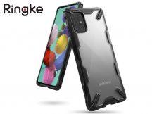 Samsung A715F Galaxy A71 ütésálló hátlap - Ringke Fusion X - black