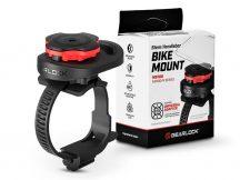Spigen Gearlock kerékpárra szerelhető telefontartó / rögzítő rendszer AU100 adapterrel - Gearlock MS100 Stem/Handlebar Bike Mount - fekete