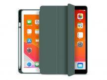 Apple iPad 10.2 (2019/2020) védőtok (Smart Case) on/off funkcióval, Apple Pencil tartóval - green (ECO csomagolás)