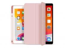 Apple iPad 10.2 (2019/2020) védőtok (Smart Case) on/off funkcióval, Apple Pencil tartóval - pink (ECO csomagolás)