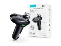Rock Bluetooth FM-transmitter / szivargyújtó töltő - 2xUSB + MP3 + TF-kártyaolvasó + AUX + PD/QC3.0 - Rock B302 - black