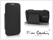 Samsung i9500 Galaxy S4 flipes slim tok - Pierre Cardin DeLuxe Slim Folio - black