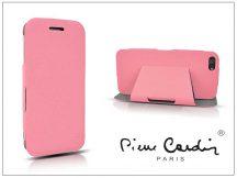 Apple iPhone 5C flipes slim tok - Pierre Cardin DeLuxe Slim Folio - pink