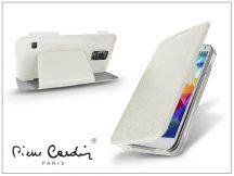 Samsung SM-G900 Galaxy S5 flipes slim tok - Pierre Cardin DeLuxe Slim Folio - white