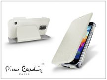 Samsung SM-G800 Galaxy S5 Mini flipes slim tok - Pierre Cardin DeLuxe Slim Folio - white