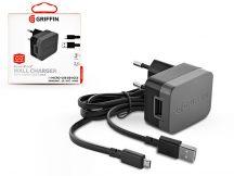 Griffin USB hálózati töltő adapter + micro USB kábel 90 cm-es vezetékkel - Griffin PowerBlock Wall Charger - 5V/2,4A - black
