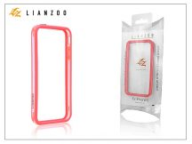 Apple iPhone 5 védőkeret - Bumper - Gecko Lianzoo - clear/red