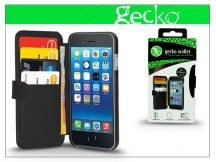 Apple iPhone 6 flipes bőrtok - Gecko Wallet DeLuxe - black