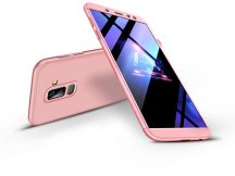 Samsung A605 Galaxy A6 Plus (2018) hátlap - GKK 360 Full Protection 3in1 - rose gold