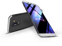Samsung A605 Galaxy A6 Plus (2018) hátlap - GKK 360 Full Protection 3in1 - fekete/ezüst