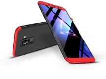 Samsung A605 Galaxy A6 Plus (2018) hátlap - GKK 360 Full Protection 3in1 - fekete/piros