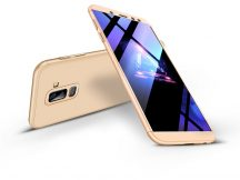 Samsung A605 Galaxy A6 Plus (2018) hátlap - GKK 360 Full Protection 3in1 - gold