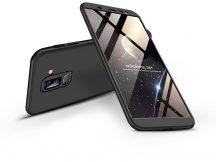 Samsung J810F Galaxy J8 hátlap - GKK 360 Full Protection 3in1 - fekete