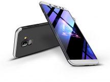 Samsung A600F Galaxy A6 (2018) hátlap - GKK 360 Full Protection 3in1 - fekete/ezüst