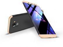 Samsung A600F Galaxy A6 (2018) hátlap - GKK 360 Full Protection 3in1 - fekete/arany