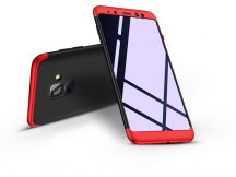 Samsung A530F Galaxy A8 (2018) hátlap - GKK 360 Full Protection 3in1 - fekete/piros