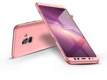Samsung A530F Galaxy A8 (2018) hátlap - GKK 360 Full Protection 3in1 - rose gold