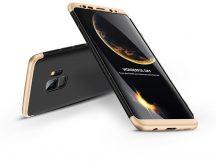 Samsung G960F Galaxy S9 hátlap - GKK 360 Full Protection 3in1 - fekete/arany