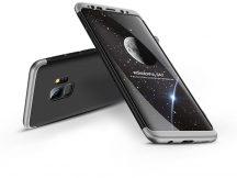Samsung G960F Galaxy S9 hátlap - GKK 360 Full Protection 3in1 - fekete/ezüst