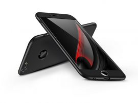 Apple iPhone 6 Plus/6S Plus hátlap - GKK 360 Full Protection 3in1 - Logo - fekete