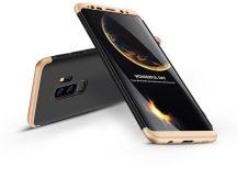 Samsung G965F Galaxy S9 Plus hátlap - GKK 360 Full Protection 3in1 - fekete/arany