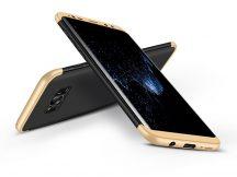Samsung G955F Galaxy S8 Plus hátlap - GKK 360 Full Protection 3in1 - fekete/arany