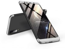 Samsung A750F Galaxy A7 (2018) hátlap - GKK 360 Full Protection 3in1 - fekete/ezüst