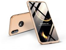 Apple iPhone X/XS hátlap - GKK 360 Full Protection 3in1 - Logo - arany