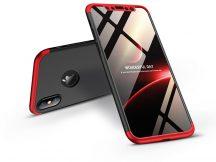 Apple iPhone X/XS hátlap - GKK 360 Full Protection 3in1 - Logo - fekete/piros