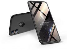 Apple iPhone X/XS hátlap - GKK 360 Full Protection 3in1 - Logo - fekete