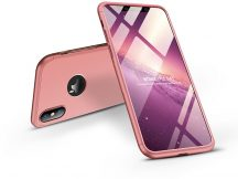 Apple iPhone XS Max hátlap - GKK 360 Full Protection 3in1 - Logo - rose gold
