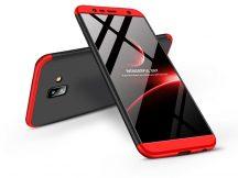 Samsung J610F Galaxy J6 Plus (2018) hátlap - GKK 360 Full Protection 3in1 - fekete/piros