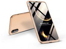 Apple iPhone X/XS hátlap - GKK 360 Full Protection 3in1 - arany
