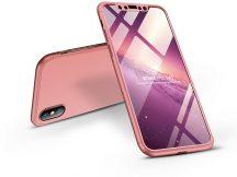 Apple iPhone X/XS hátlap - GKK 360 Full Protection 3in1 - rose gold