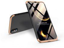 Apple iPhone X/XS hátlap - GKK 360 Full Protection 3in1 - fekete/arany