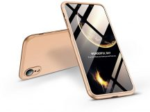 Apple iPhone XR hátlap - GKK 360 Full Protection 3in1 - arany
