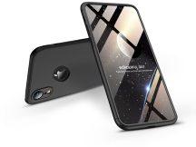 Apple iPhone XR hátlap - GKK 360 Full Protection 3in1 - Logo - fekete