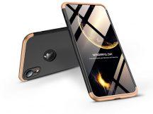 Apple iPhone XR hátlap - GKK 360 Full Protection 3in1 - Logo - fekete/arany