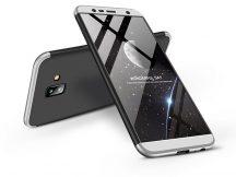 Samsung J610F Galaxy J6 Plus (2018) hátlap - GKK 360 Full Protection 3in1 - fekete/ezüst