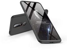 Nokia 6.1 Plus hátlap - GKK 360 Full Protection 3in1 - fekete