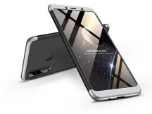 Samsung A920F Galaxy A9 (2018) hátlap - GKK 360 Full Protection 3in1 - fekete/ezüst