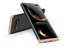 Samsung G975U Galaxy S10+ hátlap - GKK 360 Full Protection 3in1 - fekete/arany