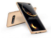 Samsung G975U Galaxy S10+ hátlap - GKK 360 Full Protection 3in1 - gold