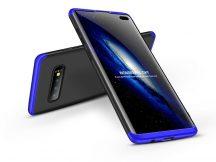 Samsung G975U Galaxy S10+ hátlap - GKK 360 Full Protection 3in1 - fekete/kék