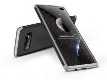Samsung G975U Galaxy S10+ hátlap - GKK 360 Full Protection 3in1 - fekete/ezüst