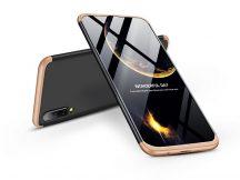 Samsung A505F Galaxy A50 hátlap - GKK 360 Full Protection 3in1 - fekete/arany