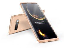 Samsung G973U Galaxy S10 hátlap - GKK 360 Full Protection 3in1 - arany