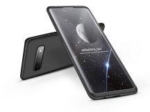 Samsung G973U Galaxy S10 hátlap - GKK 360 Full Protection 3in1 - fekete