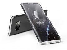 Samsung G970U Galaxy S10e hátlap - GKK 360 Full Protection 3in1 - fekete/ezüst