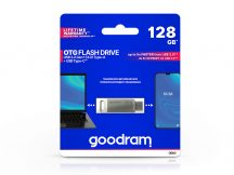 128 GB OTG Flash Drive pendrive 2in1 USB Type-A + USB Type-C csatlakozóval - 60/20 - Goodram ODA3 USB 3.2 - ezüst